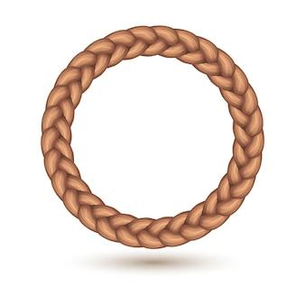 Borde de trenza en forma de círculo