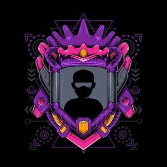 Border avatar king geometría sagrada