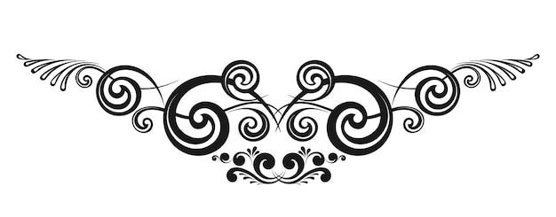 Bordes caligráficos decorativos vintage