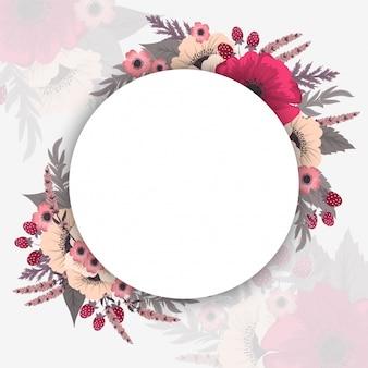 Bordes del círculo de flores
