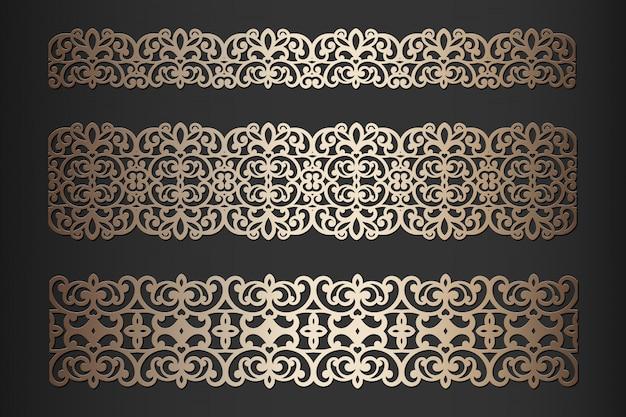Bordes cortados con láser con patrón de encaje, para decoración.