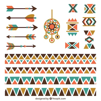 Bordes étnicos con elementos indios