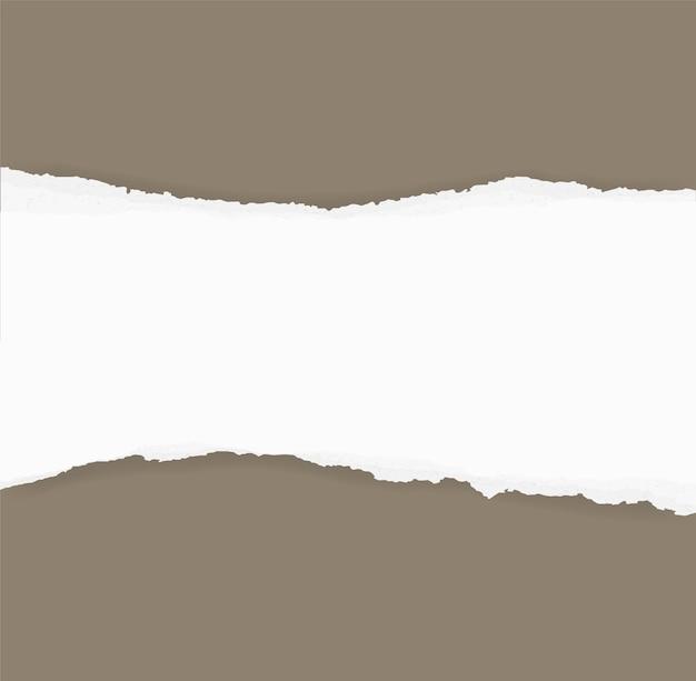 Bordes de papel rasgado para el fondo. fondo de textura de papel rasgado.