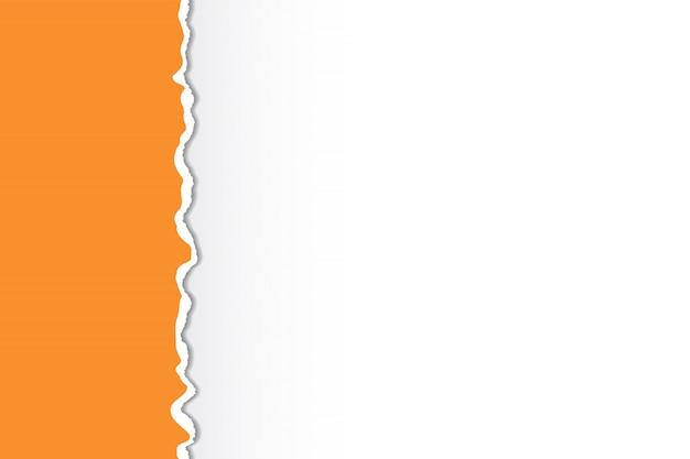 Bordes de papel rasgado multicolor. diseño artístico.