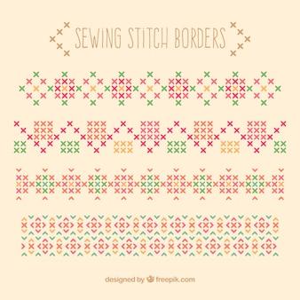Bordes de puntadas de costura
