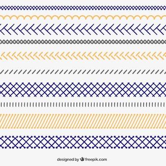Bordes zigzag dibujados a mano