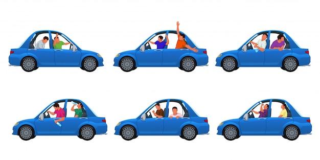 Borracho en auto set