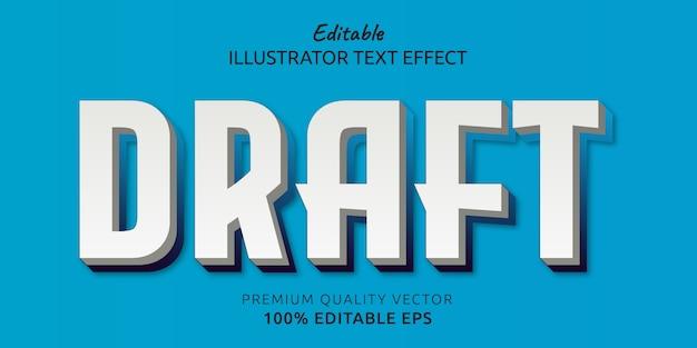Borrador de efecto de estilo de texto editable