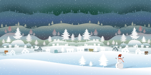 Bosque congelado con hermoso paisaje de invierno.