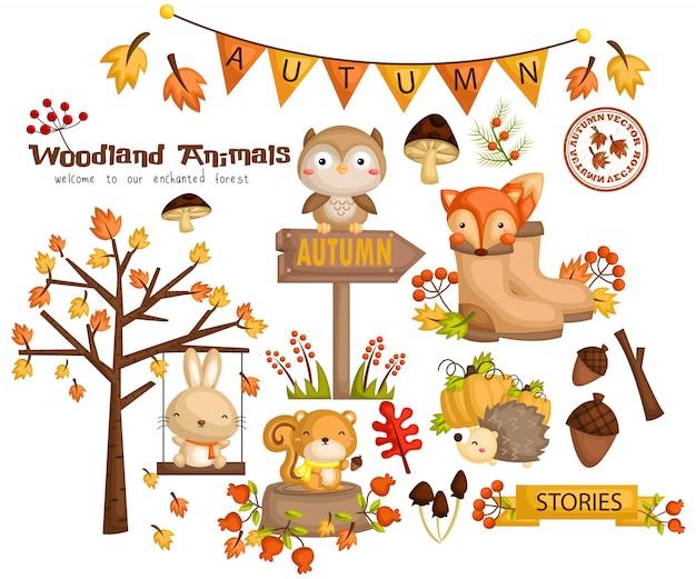 Bosque de otoño animal