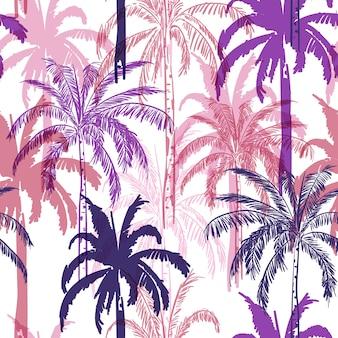 Bosque con palmeras coloridas
