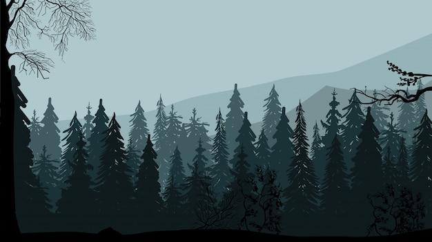 Bosque de pinos oscuros