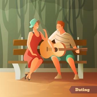Bosque serenata fondo de citas
