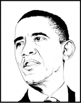 Bosquejo de la cara de obama