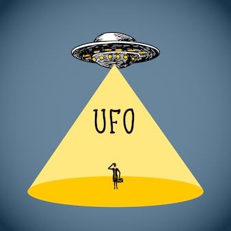 Bosquejo del cartel de ufo