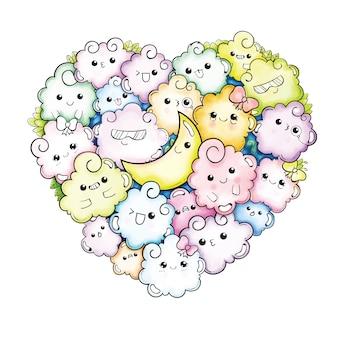 Bosquejo de dibujos animados lindo doodle