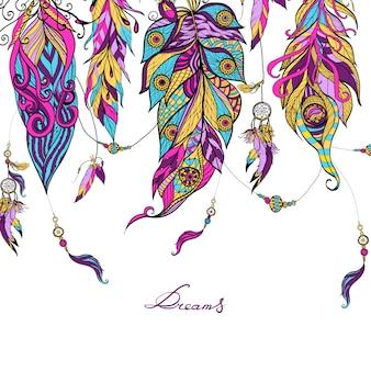 Bosquejo étnico de las plumas