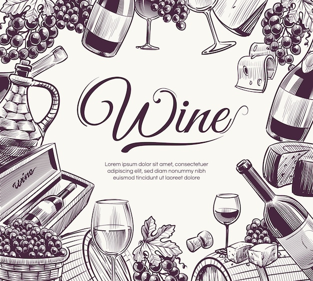 Bosquejo del fondo del vino.