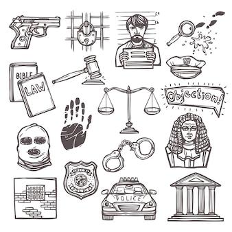 Bosquejo del icono de la ley