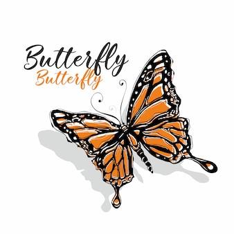Bosquejo de la mariposa
