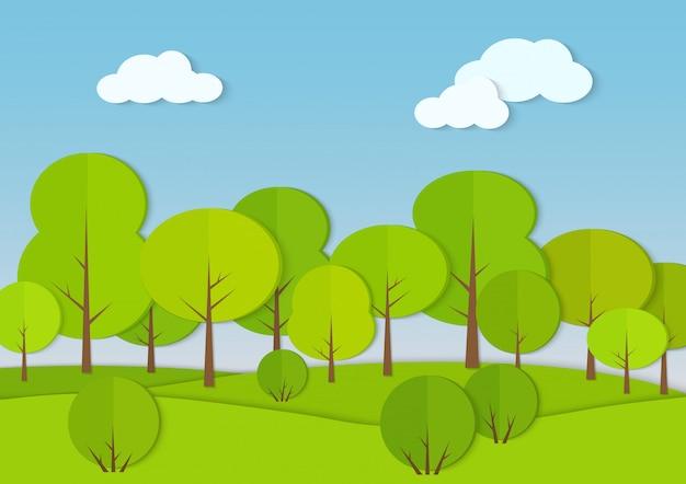 Bosques bosques cartulina papel paisaje
