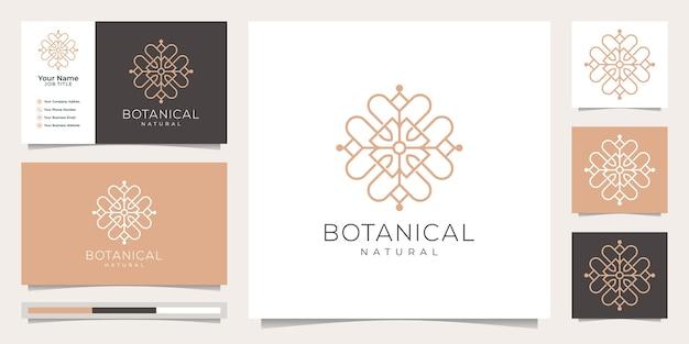 Botánico femenino y floral, logotipo adecuado para salón de spa.