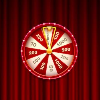 Bote de casino fortune, marco de luz moderno. ilustración vectorial