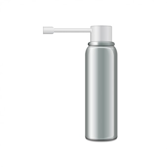 Botella de aluminio con pulverizador para pulverización oral.
