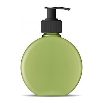 Botella de bomba, dispensador de jabón, producto cosmético en blanco
