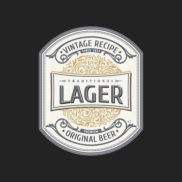 Botella de cerveza etiqueta vintage