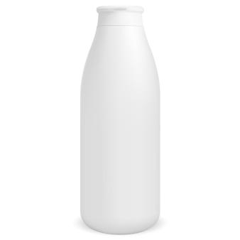 Botella de champú blanco envase de loción para el cabello cosmético tubo de jabón líquido en blanco en blanco