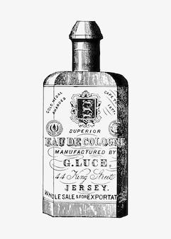 Botella de colonia en estilo vintage.