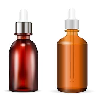 Botella cosmética con cuentagotas. ilustración vectorial