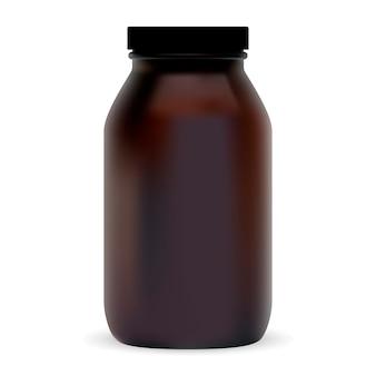 Botella cosmética marrón