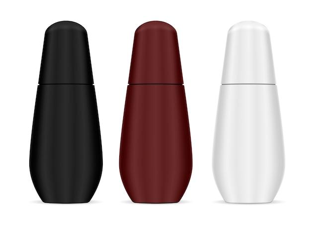 Botella cosmética moderna de forma suave para el cabello, el cuerpo.