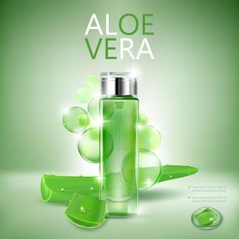 Botella cosmética transparente