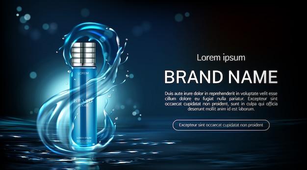 Botella de cosméticos banner de tubo de producto anti envejecimiento