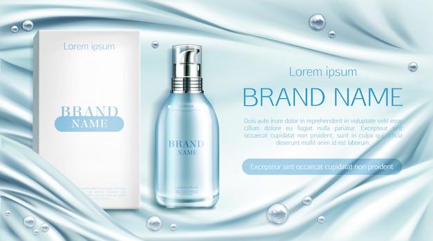 Botella de cosméticos spa producto de belleza natural