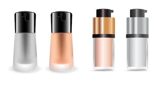 Botella de crema de base cosmética