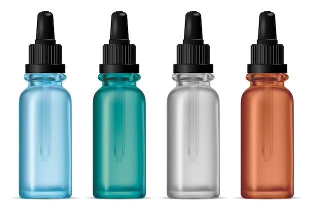 Botella cuentagotas. frasco de pipeta cosmético de suero transparente