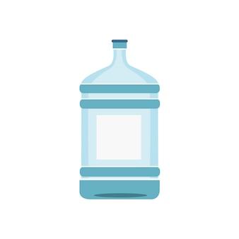Botella de agua aislada en la ilustración blanca