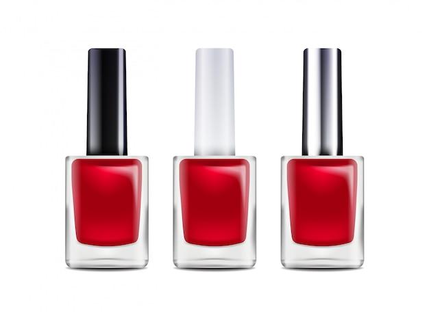 Botella de esmalte de uñas brillante. ilustración. modelo