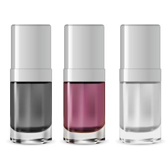 Botella de esmalte de uñas. contenedor de suero. diseño
