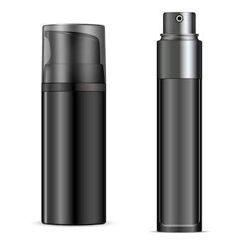 Botella de espuma de afeitar, plantilla de lata de envases de aerosol