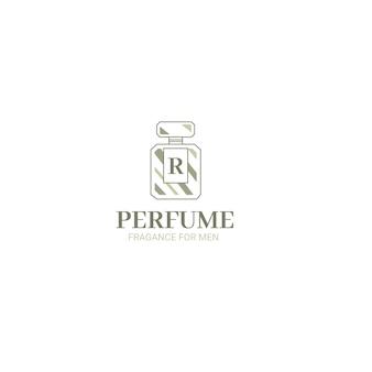 Botella de perfume logotipo de empresa comercial
