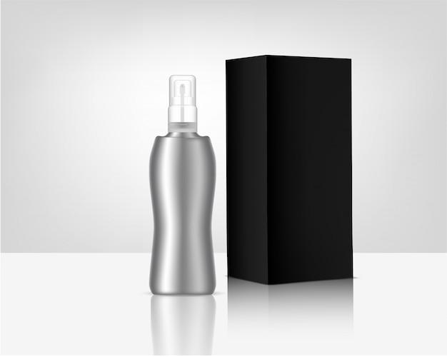 Botella de perfume realista maqueta