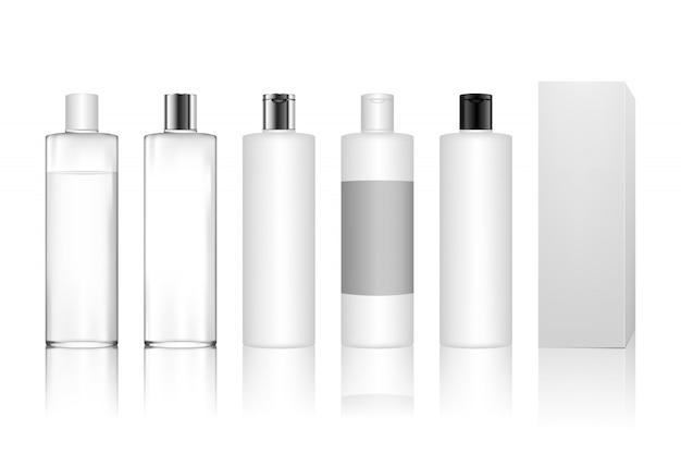Botella de plástico cosmética para gel, loción, crema, champú, espuma de baño, cuidado de la piel.