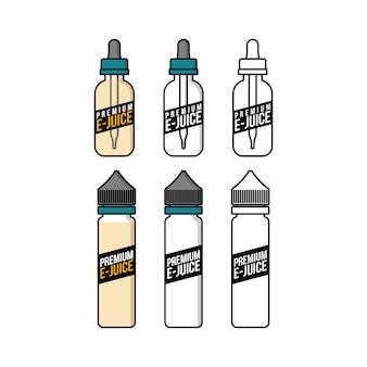 Botella de plástico líquida del e-jugo del e-cigarrillo del vaporizador personal