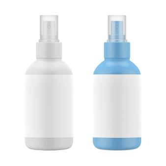 Botella de plástico mate, spray para cosméticos.