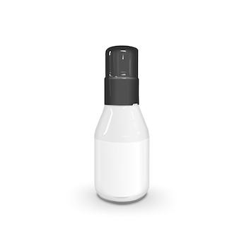 Botella de salsa en blanco